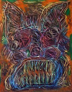 """""""Babau II"""" 2012 Tecnica mista su cartoncino 48x38 ©Pietro Gragano"""