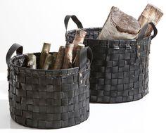paniers en pneu recyclé - set de 2 | becquet