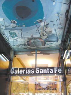 Fresco de Raúl Soldi en las Galerías Santa Fe.