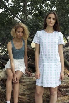 Spring Summer 2015 collection from Ever Rêve. Photo by Amanda Urvall Nyrén. Models Rachelle Holland and Noemi Gunea.  Prête a Porter, Ready To Wear, Design, Sustainability, Colour, Pattern, Print, Inspiration, Handpainting, Graphic, Artisan, Technique, DIY, Heritage, Watercolor, Fashion,