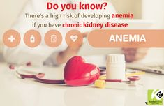 Your kidneys have a role in making red blood cells, so chronic kidney disease can lead to anemia. Consult your kidney specialist to correct anemia and discuss the best diet plan for you.  https://goo.gl/kXrdL6