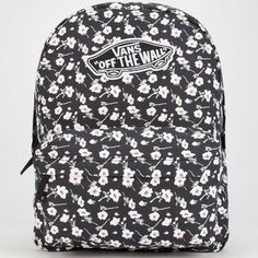Vans Realm Backpack Black/White One Size For Women 25711212501