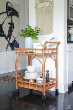 """Discover even more details on """"bar cart decor inspiration"""". Take a look at our site. Bar Cart Styling, Bar Cart Decor, Bar Furniture, Modern Furniture, Furniture Design, Bamboo Furniture, Futuristic Furniture, Plywood Furniture, Chair Design"""