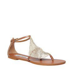 Free Shipping - Steve Madden Shineyy Cute Flat Sandals