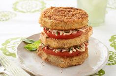 Eggplant & Tomato Napoleons recipe  good for these meatless Fridays coming up