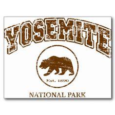 Yosemite National Park Postcard - $.98