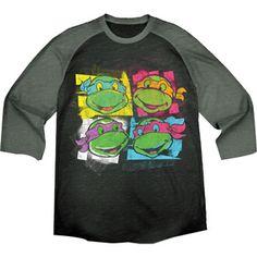 Big Men's Teenage Mutant Ninja Turtles Grapic Raglan Tee