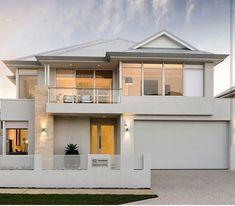 Modern Small House Design, Duplex House Design, House Front Design, Dream Home Design, House Exterior Color Schemes, Dream House Exterior, Dream House Plans, Model House Plan, Luxury Homes Dream Houses