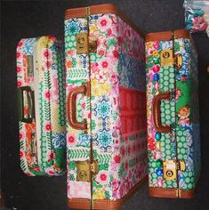 Tutorial on how to make a decoupage suitcase! With Jennifer Paganelli of Sis Boom.