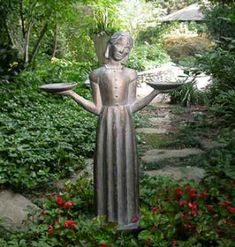 "The sculpture, known as the Bird Girl, was created in 1936, by sculptress Sylvia Shaw Judson (1897-1978) in Lake Forest, Illinois. It achieved fame when it was featured on the cover of the 1994 novel, ""Midnight in the Garden of Good and Evil""."
