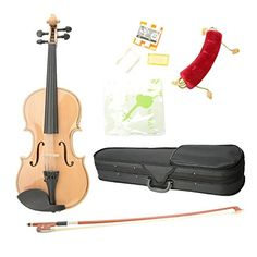Great Value Acoustic Violins ASTONVILLA AV01 1/4 Imitation Ebony Parts Maplewood Acoustic Violin with Accessories * This is an Amazon Affiliate link. For more information, visit image link.