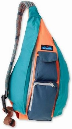 The Kavu Women's Rope Sling Bag fit the body like a bag should. It's similar in size x and design to its fraternal twin the KAVU Rope Bag with one exception: the Rope Sling is made of polyester making it water resistant. Thing 1, Travel Bags For Women, Carry All Bag, Day Bag, Casual Bags, Sling Backpack, Sling Bags, Purses And Handbags, Backpack Handbags