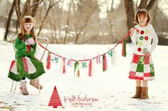 Christmas banner photo card