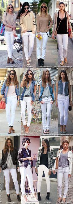 white pants..