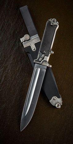 Luger inspired custom knife