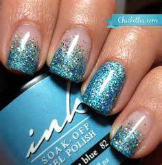 Image detail for -... Sparkle & Glitter Wedding / Half Moon Manicure ♥ Wedding Nail Art