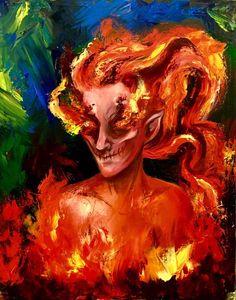 God of Fire by LBGrimArt on DeviantArt <3 <3 <3