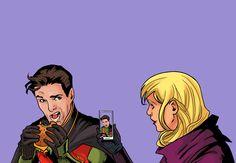 Red Robin & Spoiler. Tim Drake & Stephanie Brown. <3