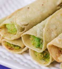 """Avocado Taquitos aka """"Flautas"""" - these corn tortillas are filled with avocados and cheese and fried to perfection! Perfect for a main dish or appetizer. Wonton Recipes, Egg Roll Recipes, Appetizer Recipes, Avocado Recipes, Mexican Dishes, Mexican Food Recipes, Beef Recipes, Mexican Cooking, Appetizers"""