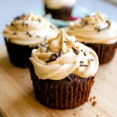 Super-fudge brownie cupcakes with creamy peanut butter frosting. Plus more favorite chocolate cupcakes!