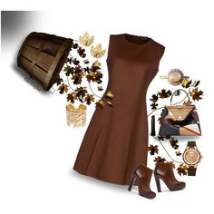 Top Set 9/12/15 Falling Leaves by gemique on Polyvore featuring moda, Salvatore Ferragamo, Fendi, Michele, Dettagli, Barneys New York and Bobbi Brown Cosmetics