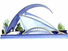 ART + BOCET: Algunos Bocetos de Santiago Calatrava con Tratamientos.