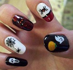 uñas pintadas a mano halowen - Bing Imágenes