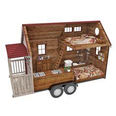 Maison sur roue : tiny house sur mesure, maison minuscule