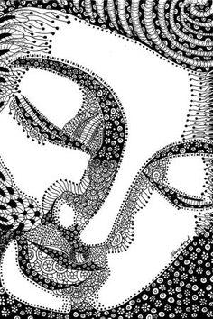 Buddha Zentangle ink drawing by Nance Aurand-Humpf by ƉǑϺІИО BRAND