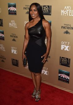 """Actress Angela Bassett attends the premiere screening of FX's """"American Horror Story: Hotel"""" at Regal Cinemas L.A. Live on October 3, 2015 in Los Angeles, California."""