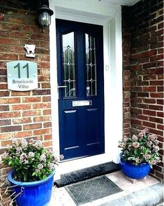 blue front door colored doors navy colors behr do