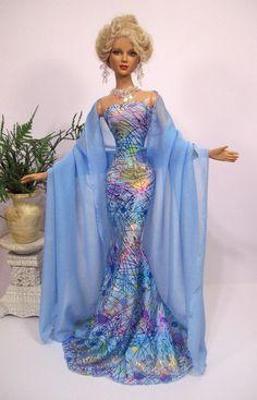 Baby Blue Confetti. Tonner Barbie OOAK doll.