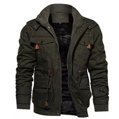 Mantel Jacke Damen-Frauen Tarnung Bedruckt Übergröße Armeegrün Polyester