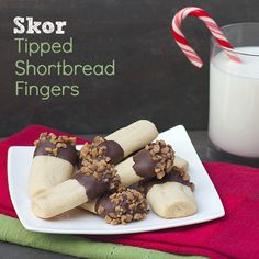 Skor Tipped Shortbread Fingers  - Day 2 of 24 Days of Christmas Baking by The Black Peppercorn!