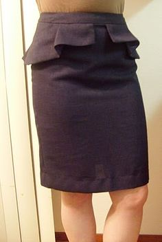 Adventures in Dressmaking: Very cool peplum skirt!