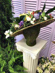 Fashionable Flowers Hat www.Gardenchick.com