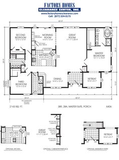 1000 images about maufactored home on pinterest mobile for 6 bedroom double wide