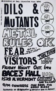 Old Punk Flyers: Archive
