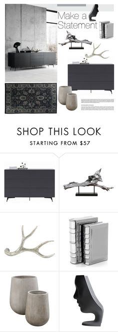 """Make a Statement"" by szaboesz ❤ liked on Polyvore featuring interior, interiors, interior design, home, home decor, interior decorating, BoConcept, Uttermost, Arteriors and Flamant"