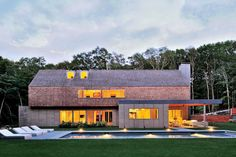 $5.3 MILLIONPedigree: This award-winning 2008 modernist abode was created by Bates Masi + Architects, a Hamptons firm known for marrying artful materials and arresting forms in residences on Long Island's East End. Capped with a gable roof and punctuated by a concrete chimney, the exterior is divided visually between the shingled upper story and the ground level, expanses of which are clad in oak surveyor's stakes that have been woven into textured sid…