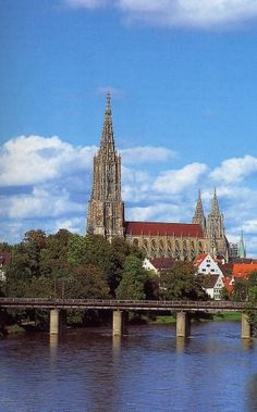 Ulm, Germany. The Ulmer Munster Cathedral on the Danube River; breathtakingly beautiful inside and out.