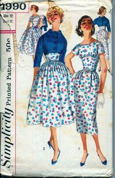 Vintage 1950's Women's Dress Pattern by AtomicRegeneration on Etsy, $8.95