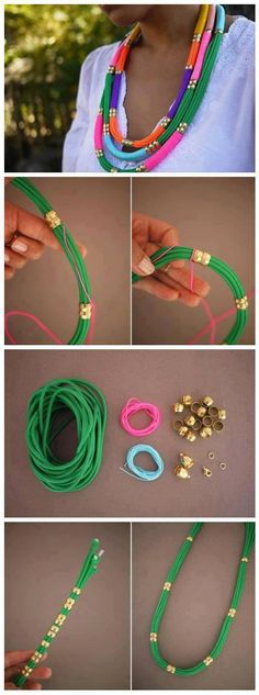 Make a Rope Necklace. (Now this necklace i do love!!!)