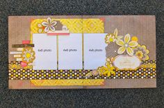 Woodgrain with the yellow and polka dots...oh my goodness! <3 <3 <3