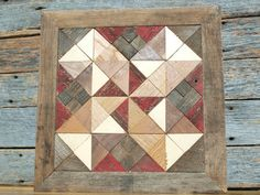 wooden barn quilt salvaged barn quilt barn by IlluminativeHarvest, $145.00. This is darling! Might try one.