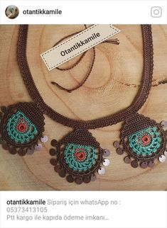 Freeform Crochet, Crochet Accessories, Jewelry Crafts, Jewerly, Crochet Necklace, Projects To Try, Textiles, Women, Embroidery