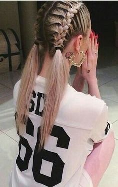 Top 60 All the Rage Looks with Long Box Braids - Hairstyles Trends French Braid Hairstyles, Box Braids Hairstyles, French Braids, Thin Hairstyles, French Hair, French Braid Pigtails, School Hairstyles, Hairstyle Ideas, Halloween Hairstyles