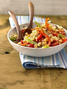 Couscous-Gemüse-Salat mit Kichererbsen