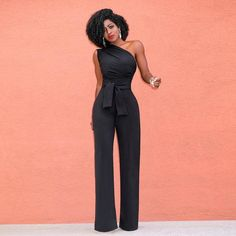14d01d79b31e Stigende Ladies Summer Sleeveless Jumpsuits for Women One Shoulder Jumpsuit  Sexy Backless Slash Neck Wide Leg Pants Jumpsuit