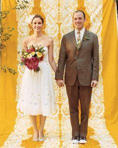 A Casual Vintage-inspired Outdoor Wedding in California | Martha Stewart Weddings